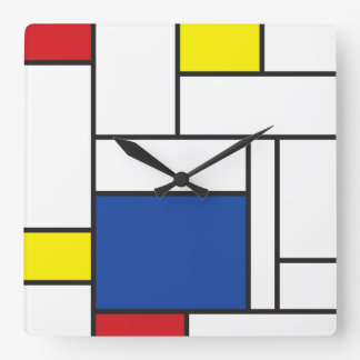 Reloj de pared minimalista del arte moderno de