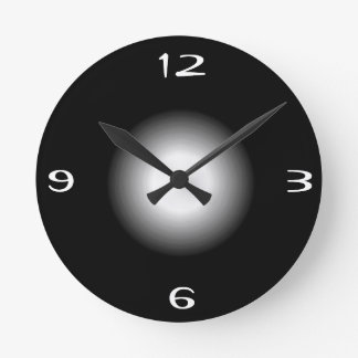 Reloj de pared modelado >Plain negro del withWhite