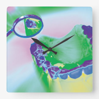 Reloj de pared modelo del dentista del estudio del