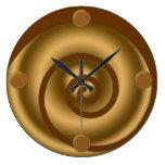Reloj de pared moderno del arte del remolino