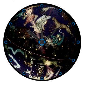 Reloj de pared moderno del globo celestial