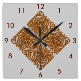 Reloj de pared moderno del mosaico Brown, Carmel,