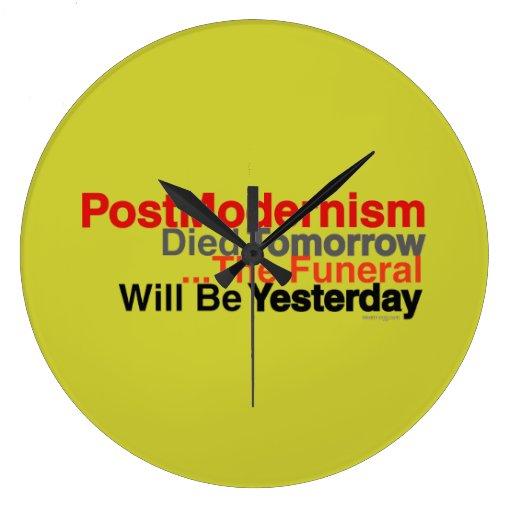 Reloj de pared moderno del Postmodernism (mostaza)