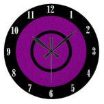 Reloj de pared moderno púrpura y negro