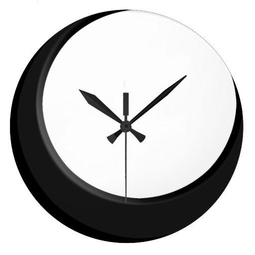 Reloj de pared moderno retro blanco y negro de la