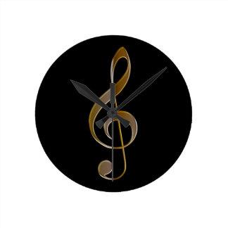 Reloj de pared Música-temático del Clef agudo