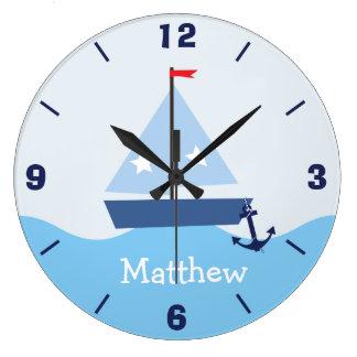 Reloj de pared náutico personalizado del barco de