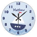 Reloj de pared náutico personalizado del cuarto de