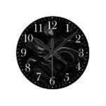 Reloj de pared negro del arte abstracto de la ener