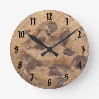 Reloj de pared numerado de la galleta de microproc