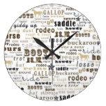 Reloj de pared occidental del negro del arte de la