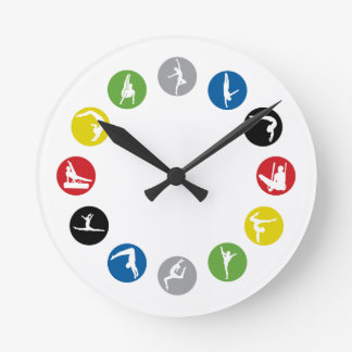Reloj de pared olímpico de la gimnasia