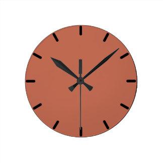 Reloj de pared pelirrojo del color de Audubon