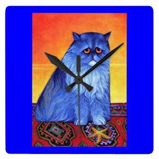 Reloj de pared persa azul
