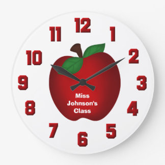 Reloj de pared personalizado de Apple