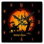 Reloj de pared personalizado de Halloween de la ca