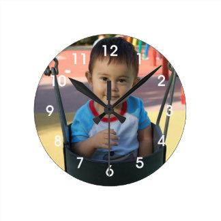 Reloj de pared personalizado de la foto