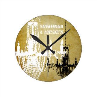 Reloj de pared personalizado de la lámpara