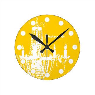 Reloj de pared personalizado de la lámpara del