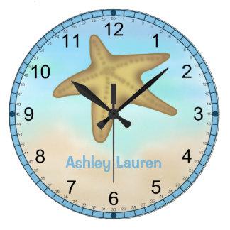 Reloj de pared personalizado de las estrellas de