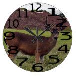 Reloj de pared personalizado de los ciervos del dó