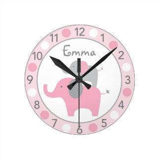 Reloj de pared personalizado del cuarto de niños d