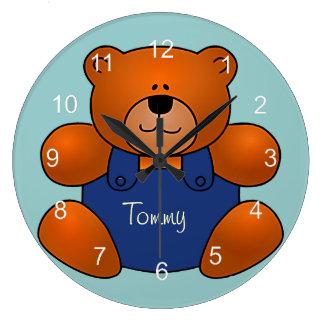 Reloj de pared personalizado del diseño del oso de