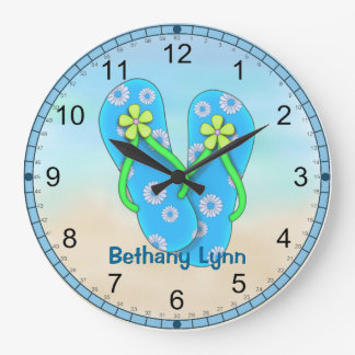 Reloj de pared personalizado del flip-flop