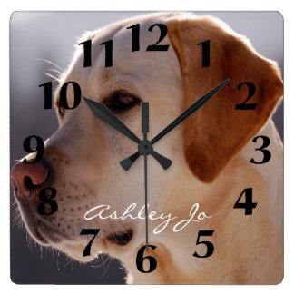 Reloj de pared personalizado del labrador