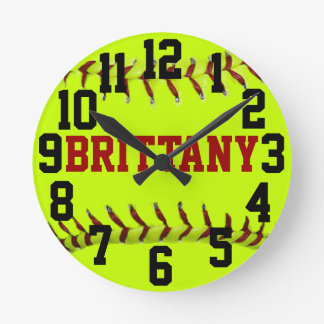 Reloj de pared personalizado del softball