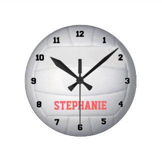 Reloj de pared personalizado del voleibol
