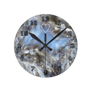 Reloj de pared personalizado onda