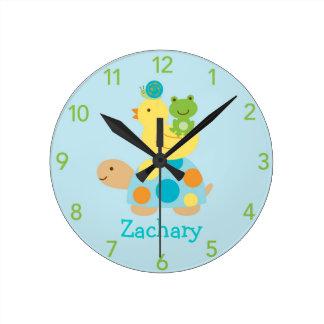 Reloj de pared personalizado pato del cuarto de ni