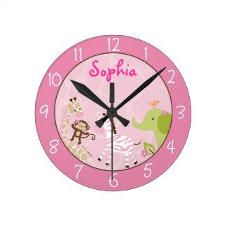 Reloj de pared personalizado selva del cuarto de