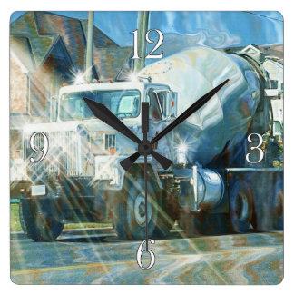 Reloj de pared pesado del camión del cemento del