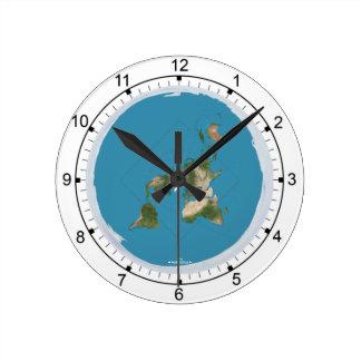 Reloj de pared plano de la talla media de la