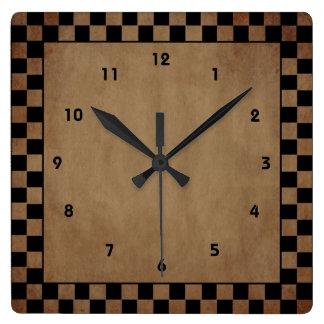 Reloj de pared primitivo del control