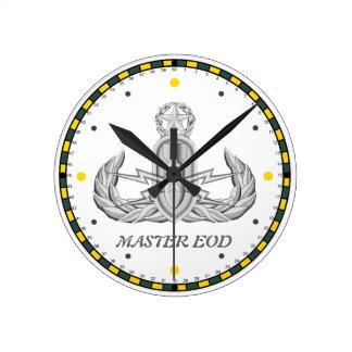 Reloj de pared principal del EOD del ejército