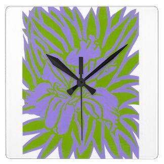 Reloj de pared psicodélico del iris de Luisiana
