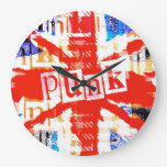 Reloj de pared punky de Union Jack