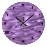 Reloj de pared púrpura