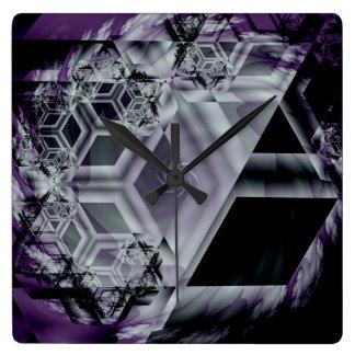 Reloj de pared púrpura de la tonalidad