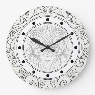 Reloj de pared que dibuja el extracto floral