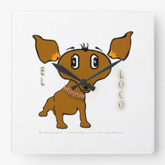 Reloj de pared raro del loco del EL de Minnie