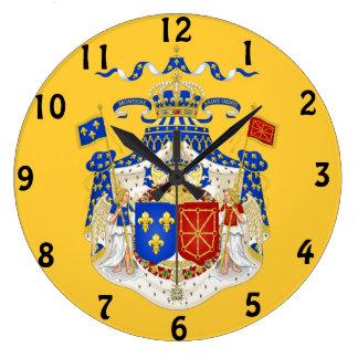 Reloj de pared real francés del escudo de armas