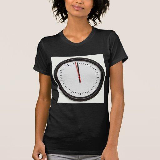 Reloj de pared redondo camiseta