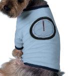 Reloj de pared redondo camiseta de mascota