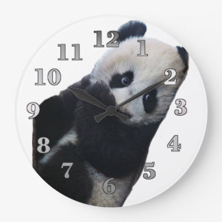 Reloj de pared redondo de la panda