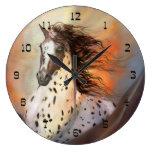Reloj de pared redondo del caballo salvaje 2