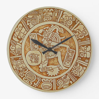 Reloj de pared redondo del guerrero tribal del